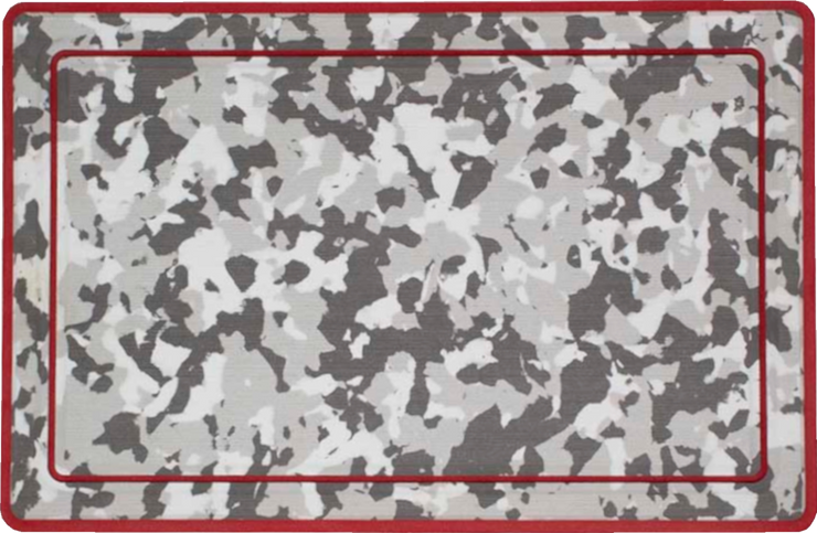 Yeti Roadie 20 Cooler Pad: Snow Camo over Red - Bordered - 6mm