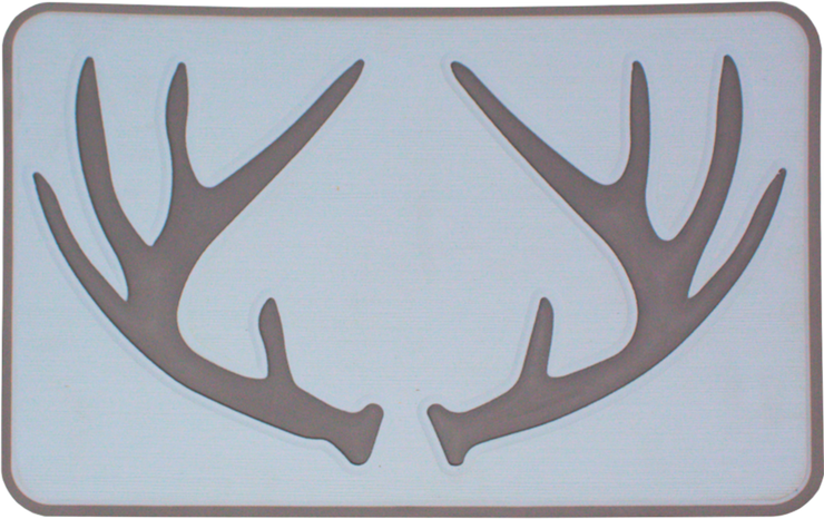 Yeti Roadie 20 Cooler Pad: Ice Blue over Slate Gray - Deer Antlers - 6mm