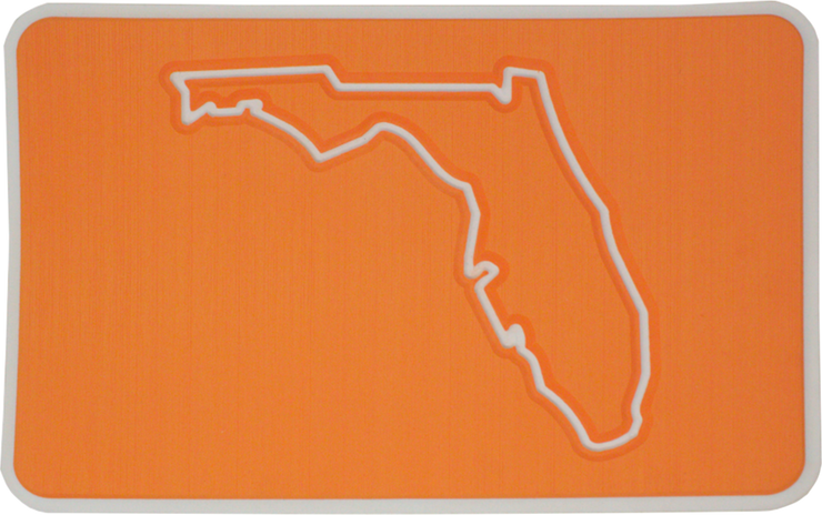 Yeti Roadie 20 Cooler Pad: Orange over White - Florida - 6mm