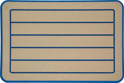 Yeti Roadie 20 Cooler Pad: Butterscotch over Marina Blue - Horizontal Faux Teak - 6mm