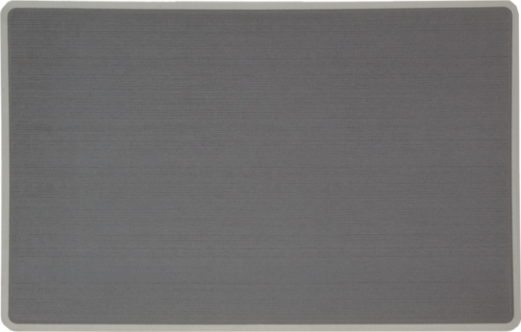 Yeti Roadie 20 Cooler Pad: Slate Gray over Mist Gray - Brushed - 6mm