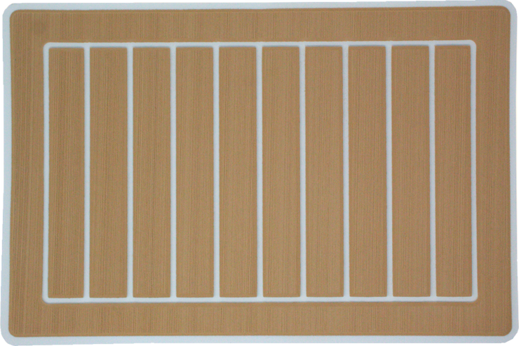 Yeti Roadie 20 Cooler Pad: Teak over White - Vertical Faux Teak - 6mm