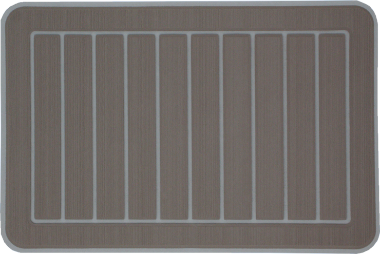 Yeti Roadie 20 Cooler Pad: Terra over Mist Gray- Vertical Faux Teak - 6mm