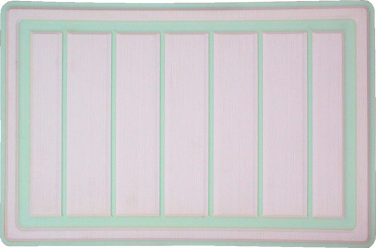 Yeti Roadie 20 Cooler Pad: White over Mint Green - Vertical Faux Teak - 6mm