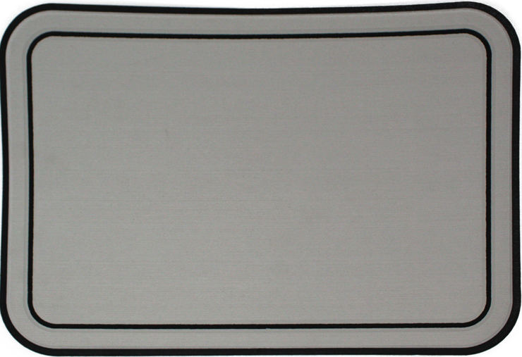 Yeti Tundra 35 Cooler Pad: Mist Gray over Black - Bordered - 6mm