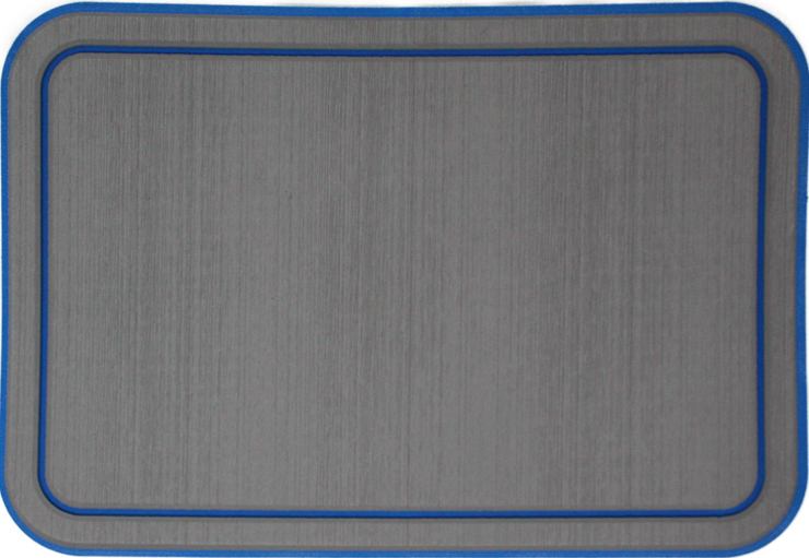 Yeti Tundra 35 Cooler Pad: Slate Gray over Aegean Blue  - Bordered - 6mm