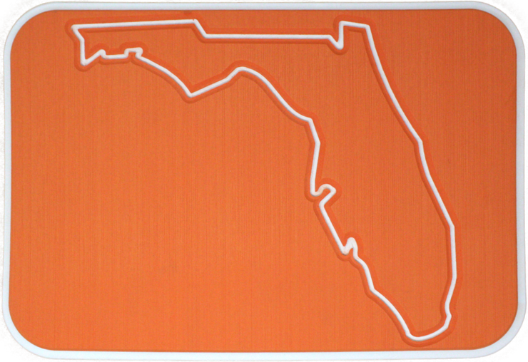 Yeti Tundra 35 Cooler Pad: Orange over White - Florida - 6mm