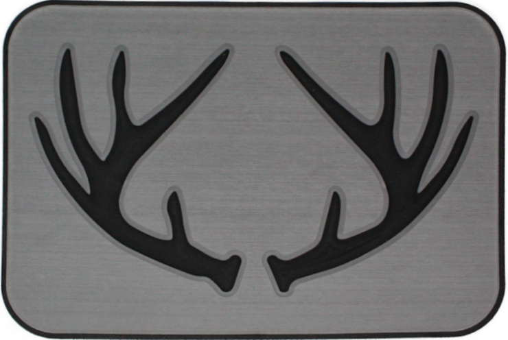 Yeti Tundra 35 Cooler Pad: Slate Gray over Black - Deer Antlers - 6mm