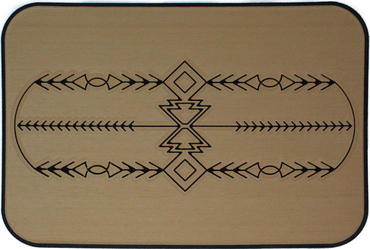 Yeti Tundra 35 Cooler Pad: Teak over Black - Southwest Design - 6mm