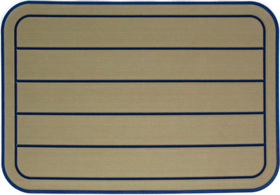Yeti Tundra 35 Cooler Pad: Butterscotch over Aegean Blue - Horizontal Faux Teak - 6mm