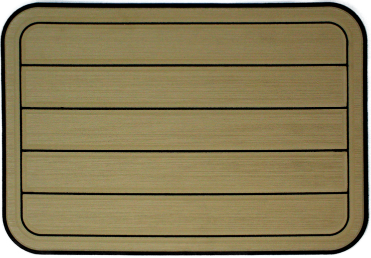 Yeti Tundra 35 Cooler Pad: Butterscotch over Black - Horizontal Faux Teak - 6mm