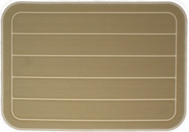 Yeti Tundra 35 Cooler Pad: Butterscotch over Cream - Horizontal Faux Teak - 6mm