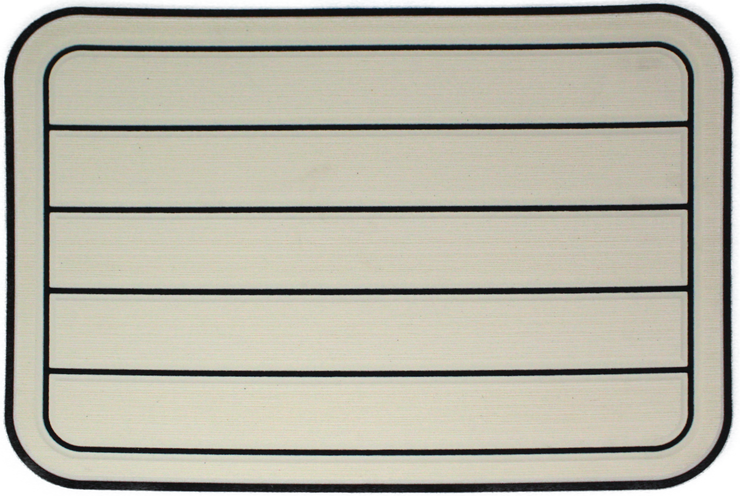 Yeti Tundra 35 Cooler Pad: Cream over Black - Horizontal Faux Teak - 6mm