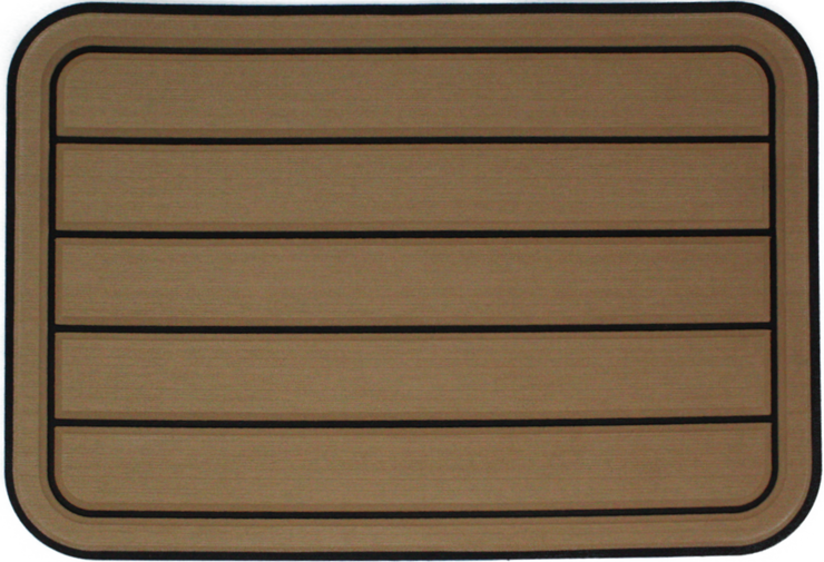 Yeti Tundra 35 Cooler Pad: Toffee over Black - Horizontal Faux Teak - 6mm