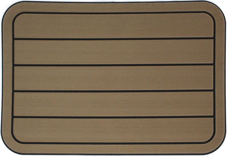Yeti Tundra 35 Cooler Pad: Toffee over Black - Horizontal Faux Teak - 9mm