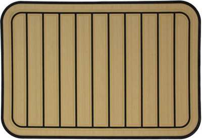 Yeti Tundra 35 Cooler Pad: Butterscotch over Black - Vertical Faux Teak - 6mm