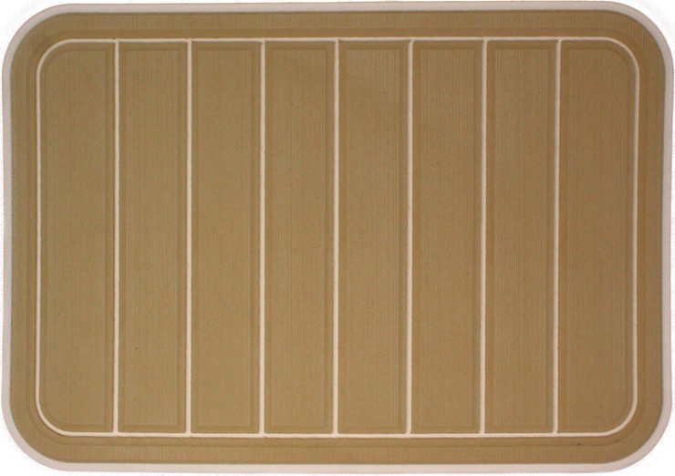 Yeti Tundra 35 Cooler Pad: Butterscotch over Cream - Vertical Faux Teak - 6mm
