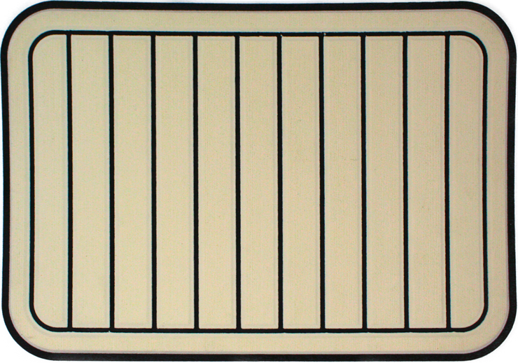 Yeti Tundra 35 Cooler Pad: Cream over Black - Vertical Faux Teak - 6mm