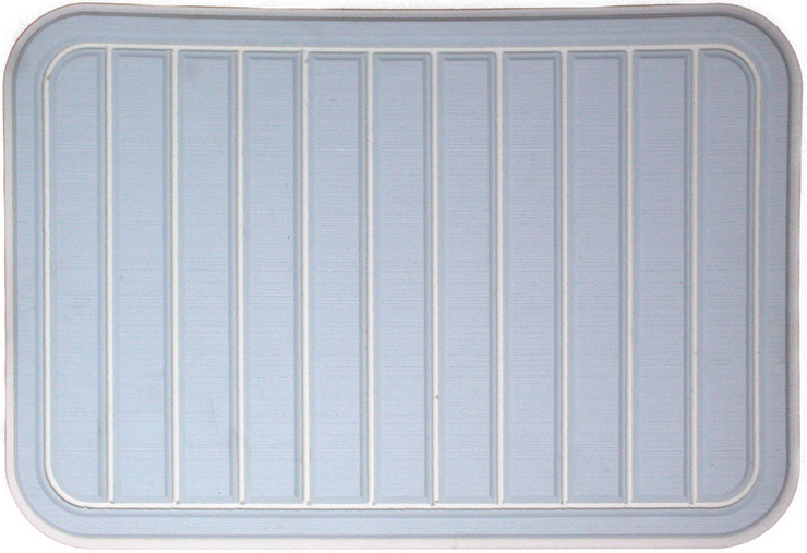 Yeti Tundra 35 Cooler Pad: Ice Blue over White - Vertical Faux Teak - 6mm