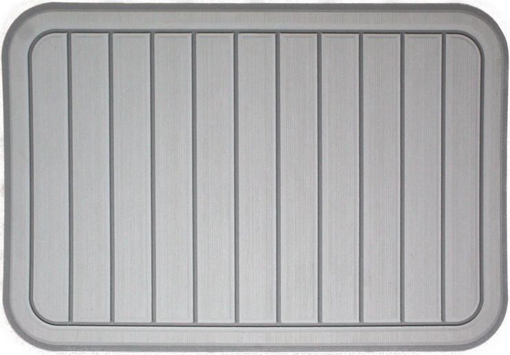 Yeti Tundra 35 Cooler Pad: Mist Gray over Titanium - Vertical Faux Teak - 6mm