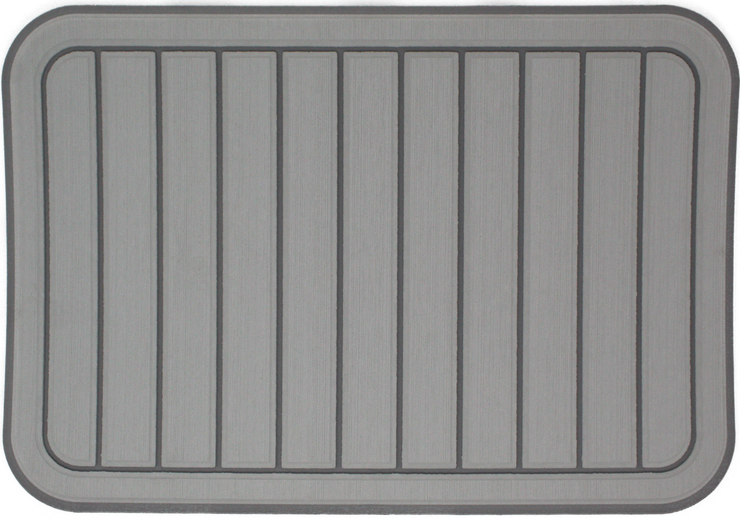 Yeti Tundra 35 Cooler Pad: Titanium over Slate Gray - Vertical Faux Teak - 6mm