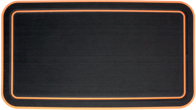Yeti Tundra 45 Cooler Pad: Black over Orange - Bordered - 6mm