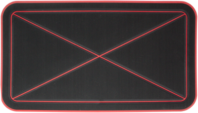 Yeti Tundra 45 Cooler Pad: Black over Red - Crossed Design - 6mm