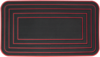 Yeti Tundra 45 Cooler Pad: Black over Red - Multi-border Design - 6mm