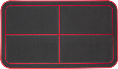 Yeti Tundra 45 Cooler Pad: Black over Red - Quartered Design - 6mm