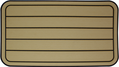 Yeti Tundra 45 Cooler Pad: Butterscotch over Black - Horizontal Faux Teak - 6mm