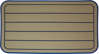 Yeti Tundra 45 Cooler Pad: Butterscotch over Marina Blue - Horizontal Faux Teak - 6mm