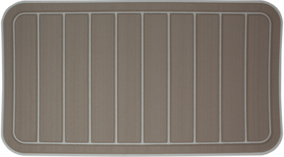 Yeti Tundra 45 Cooler Pad: Terra over Mist Gray - Vertical Faux Teak - 6mm