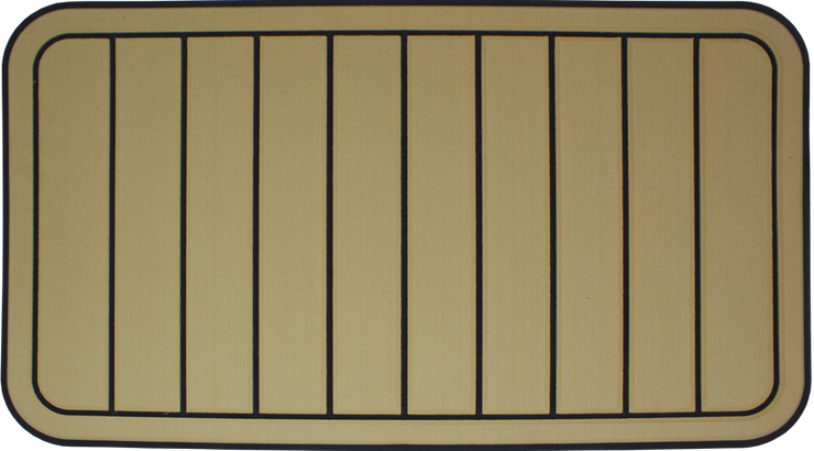 Yeti Tundra 45 Cooler Pad: Butterscotch over Black - Vertical Faux Teak - 6mm