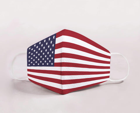 Reusable Cloth Face Masks - American Flag