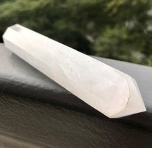 Load image into Gallery viewer, clear quartz healing crystal wand by chakrava.com