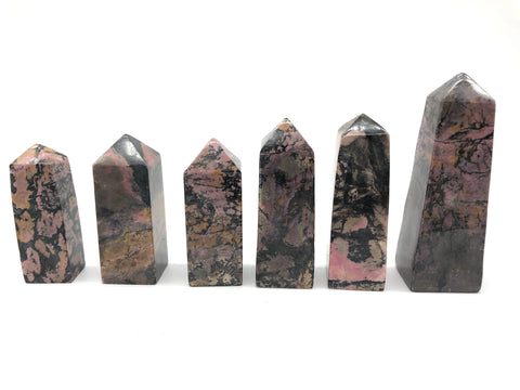 Crystal Tower - Rhodonite
