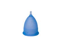 Load image into Gallery viewer, V-CUPS Model 1 Blue Menstrual Cups - Chakra Va