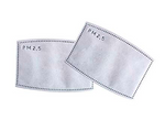 pm2.5 activated carbon air filters for reusable face masks