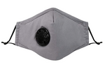 Reusable Face Masks With PM2.5 Activated Carbon Filter - Gray