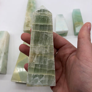 Green Calcite Tower