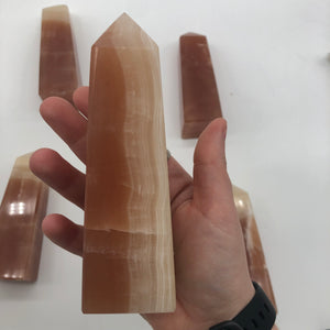 Honey Calcite Towers