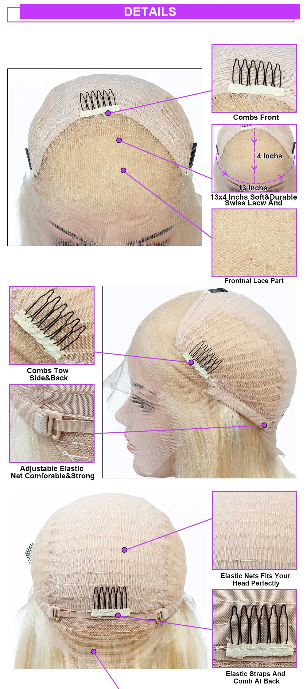 613 blonde lace front human hair wigs