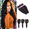 Cranberry 13x4 T Part Lace Front Wigs Brazilian Deep Wave Human Hair Wigs 180% Density Pre-plucked