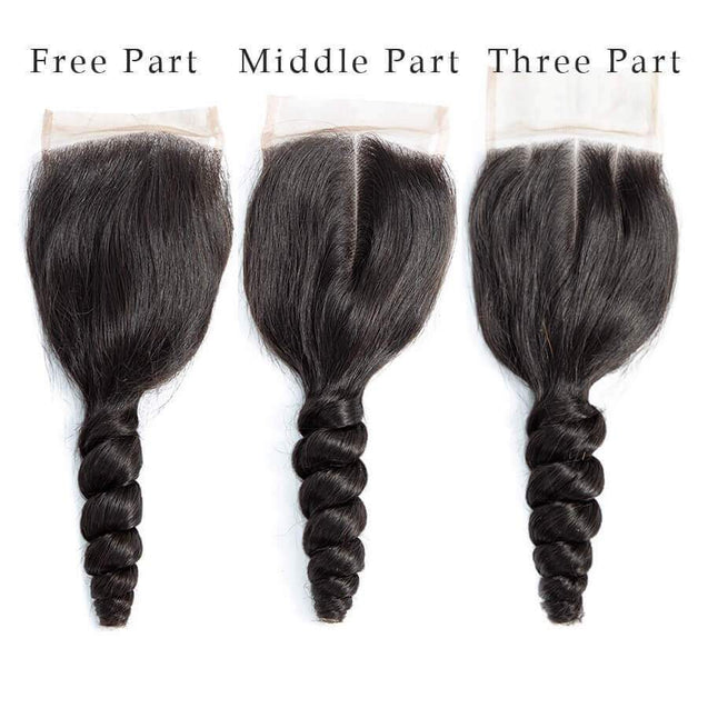 Cranberry Loose Wave Hair Weave 3pcs Human Hair Bundles With Lace Closure Remy Brazilian Hair Extensions 3 Bundles with Closure > Loose Wave > Brazilian Hair Cranberry Hair