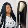 Cranberry Malaysian 4x4Inch Lace Closure Human Hair Wigs Straight Remy Hair Wigs Natural Color