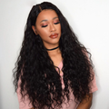 Cranberry Indian Hair Weave Middle Part Lace Closure With 3 Bundles Water Wave Human Hair