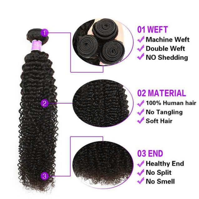 Cranberry Curly Hair Weave 3pcs Human Hair Bundles With Lace Closure Remy Brazilian Hair Extensions 3 Bundles with Closure > Curly > Brazilian Hair Cranberry Hair