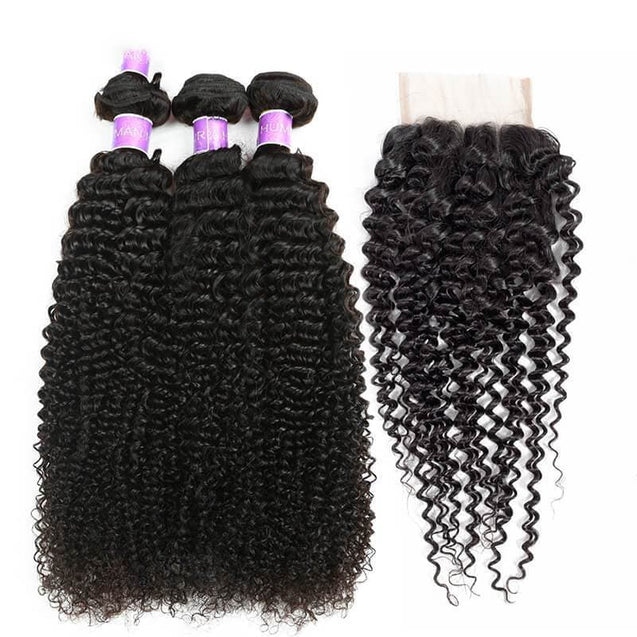 Cranberry Malaysian Virgin Hair Extensions 100% Human Hair Weave Curly 3 Bundles With Closure 3 Bundles with Closure > Curly > Malaysian Hair Cranberry Hair