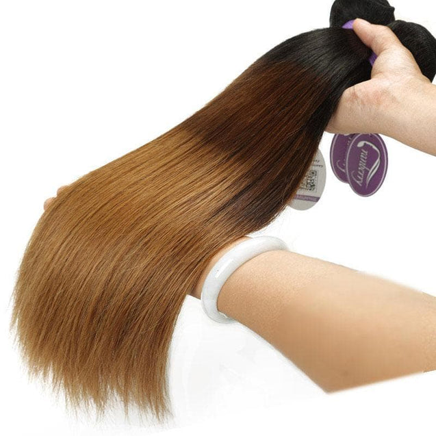 Cranberry T1b/4/30 Silky Straight Honey Blonde Ombre Indian Hair Weave 3 Bundles Ombre Hair Bundles > Silky Straight > 3 Bundles > Indian Hair > T1B/4/30 Cranberry Hair