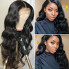 Cranberry 13x4 T Part Lace Front Wigs Malaysian Body Wave Human Hair Wigs 180% Density Pre-plucked